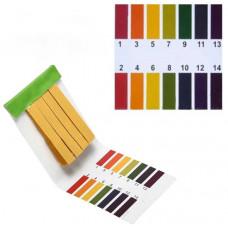 Лакмусовий папір (смужки індикаторні) рН 1,0-14,0 (80шт/уп.)
